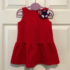 Janie and Jack quilted red dress